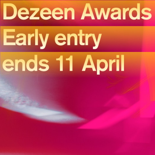 Two weeks until Dezeen Awards discounted early entry period ends