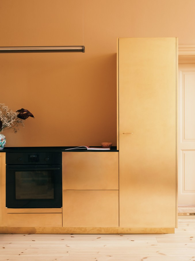 Gold Reform kitchen in Stine Goya Copenhagen offices