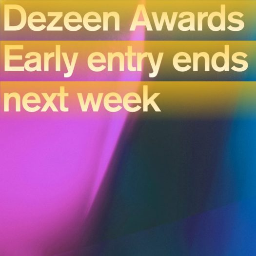 Last chance to get early reduced entry rates to Dezeen Awards