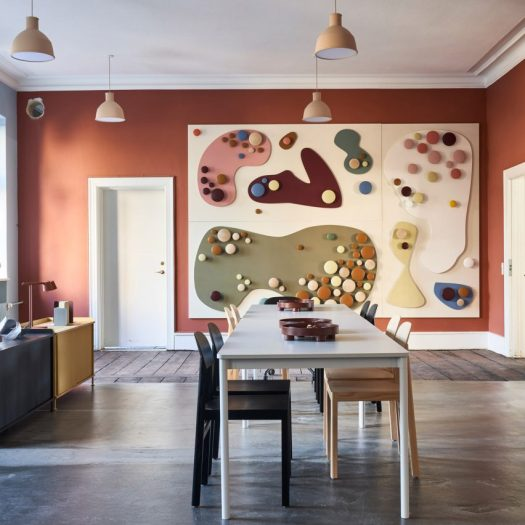 Muuto transforms co-working space into colourful pop-up exhibition