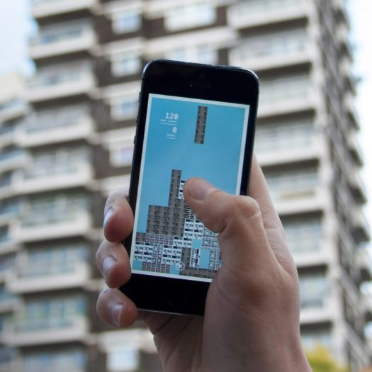 Brutalist building blocks feature in Tetris-inspired mobile game