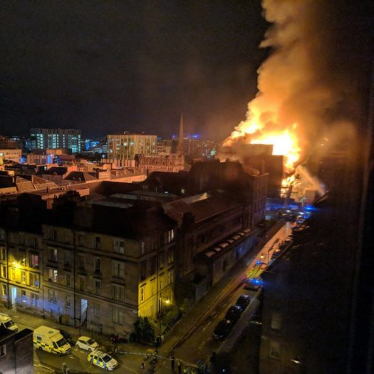 Charles Rennie Mackintosh's Glasgow School of Art fire