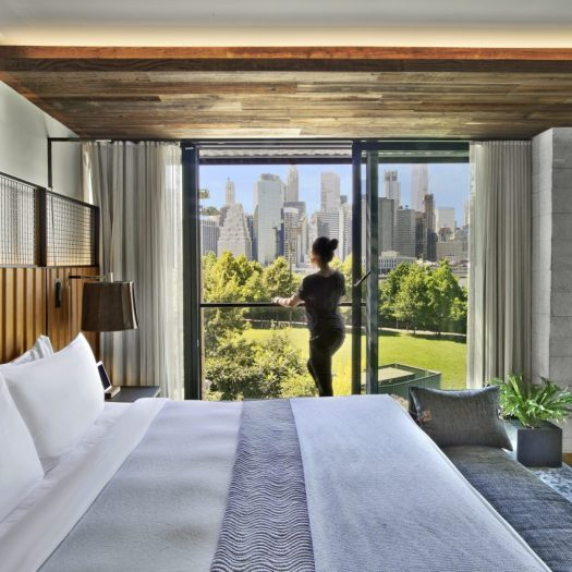 The 1 Hotel Brooklyn Bridge, designed by Marvel Architects, has been nominated in seven categories at the AHEAD Americas Awards 2018