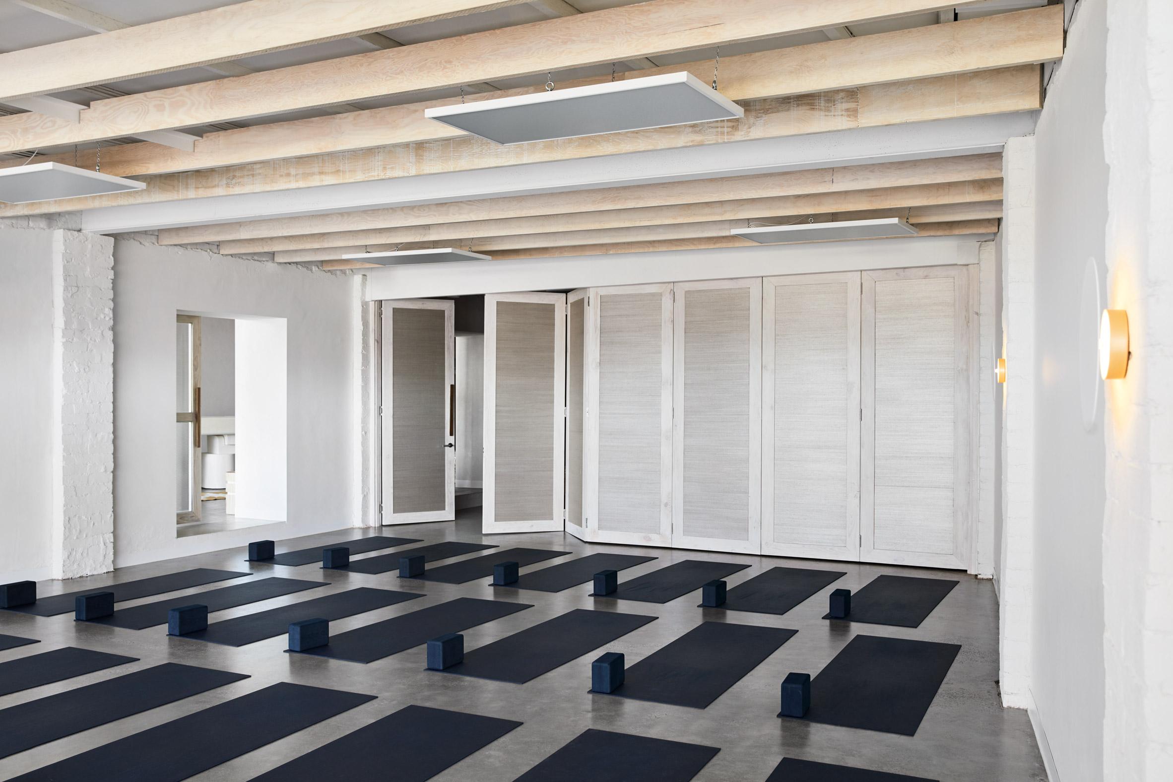 Warrior One yoga studio by Golden
