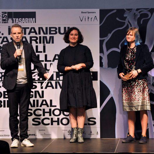 Jan Boelen with associate curators Vera Sacchetti and Nadine Botha