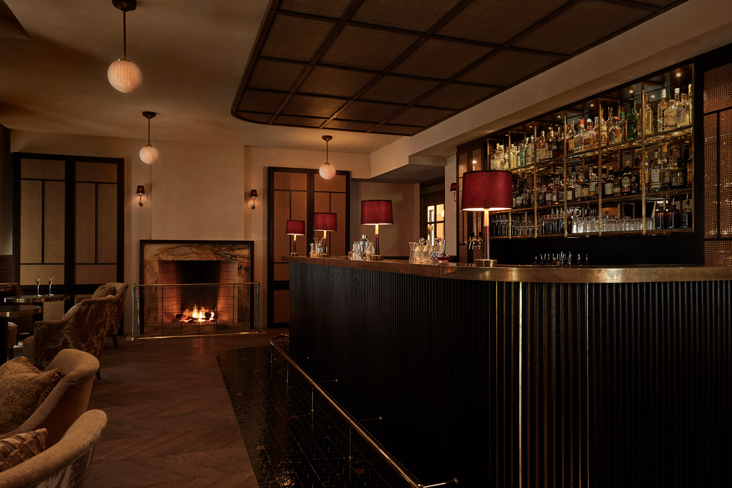 Tata, the cocktail bar at Hotel Sanders in Copenhagen, designed by Lind + Almond