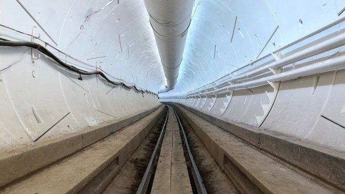 The Boring Company's tunnel in Hawthorne, California