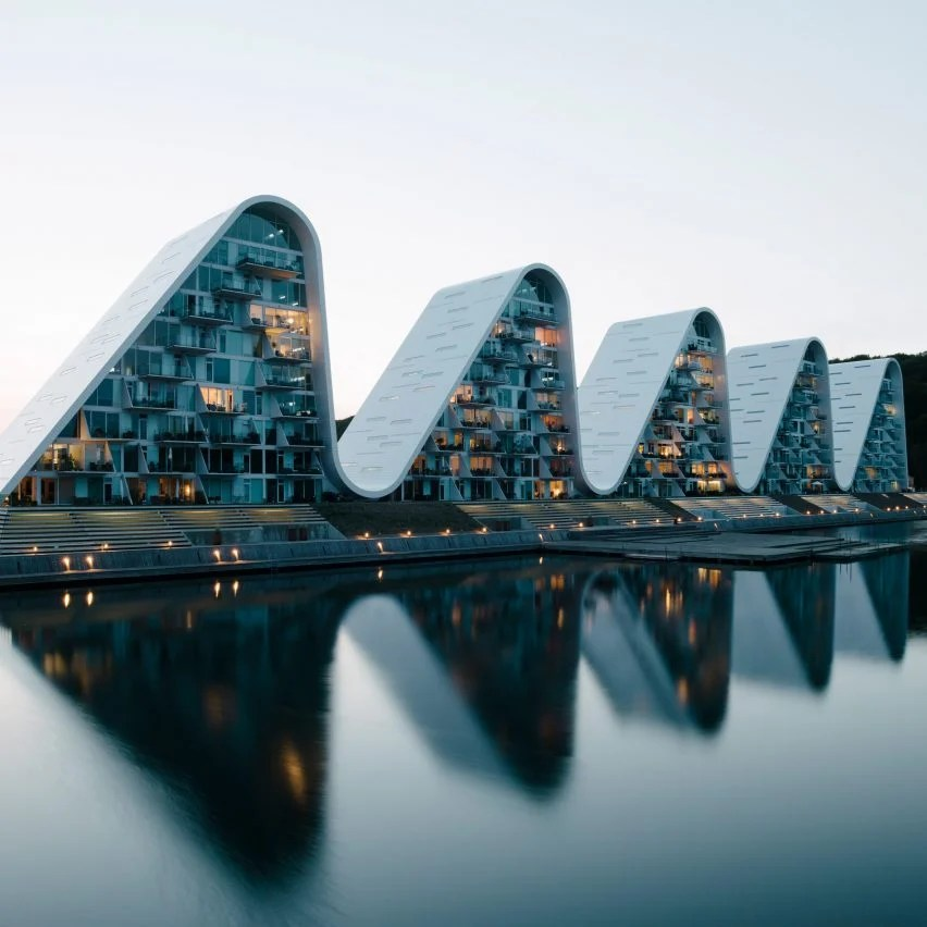 The Wave apartments by Henning Larsen