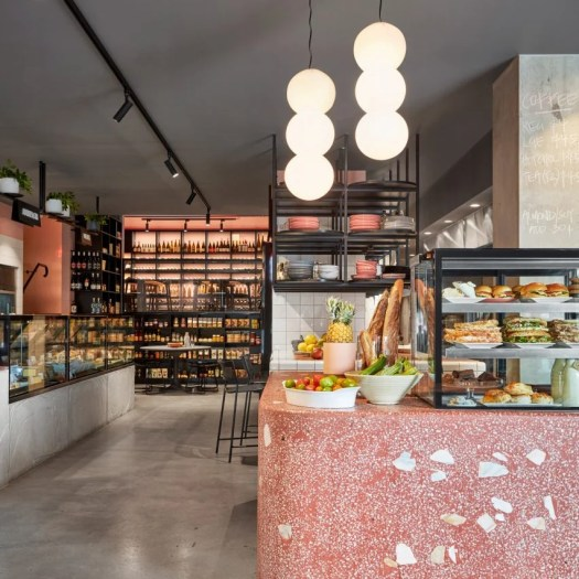 Interiors of Hunter & Co Deli in Melbourne, designed by Mim Design