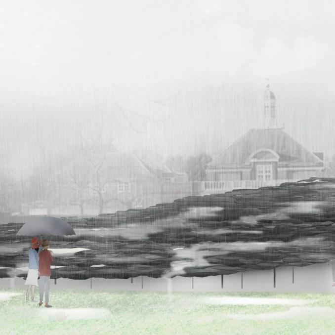 Serpentine Pavilion 2019 interior design render by Junya Ishigami + Associates