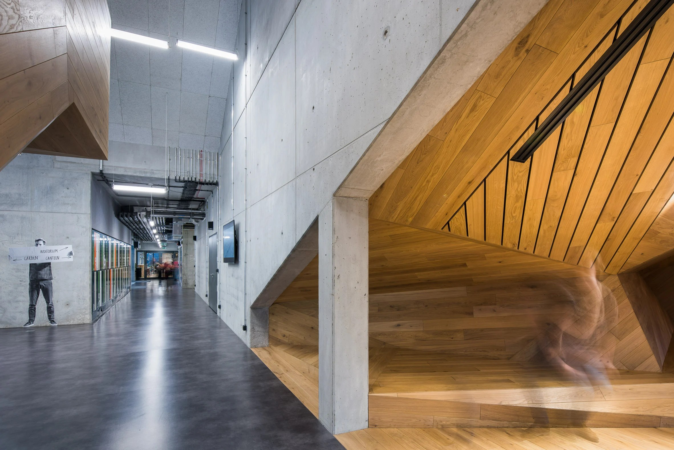 Interior shot of Akademeia High School by Medusa Group Architekci in Warsaw