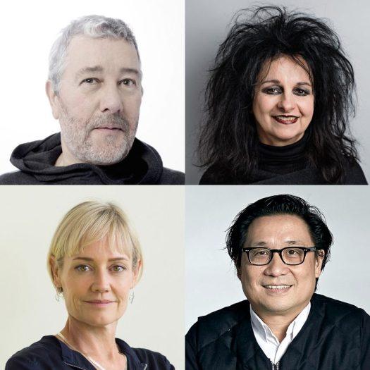 Dezeen Awards 2019 judges Philippe Starck, Odile Decq, Alison Brooks and Lyndon Neri
