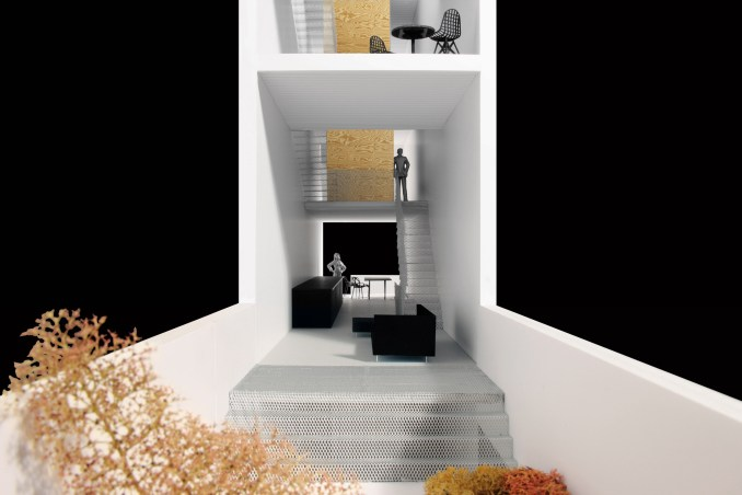 Narrow House by Only If Architecture was designed as a prototype for building on small plots