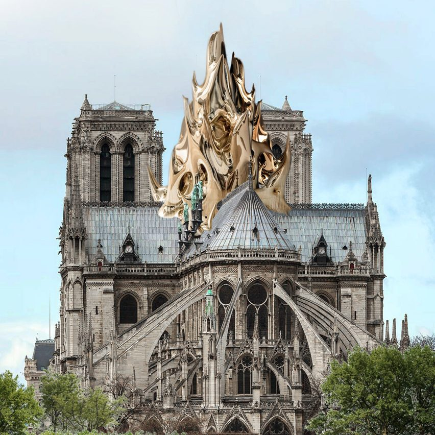 Notre-Dame Cathedral alternative spires