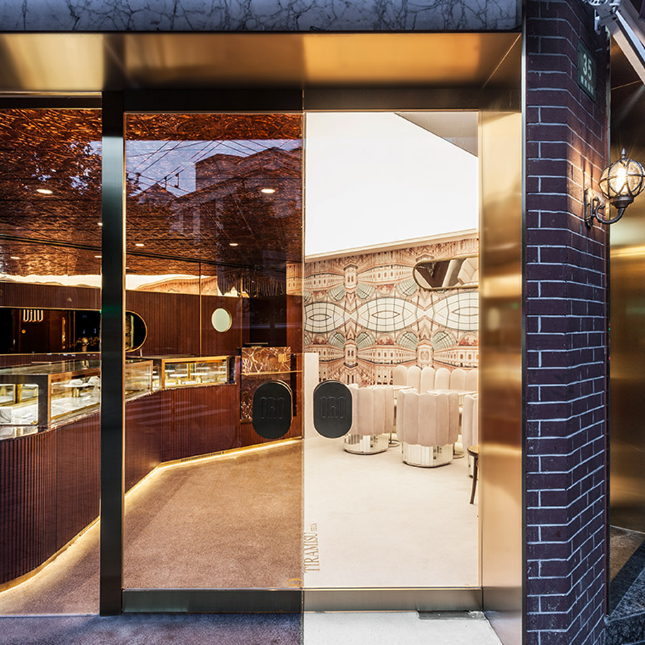 Chinese interior designers, Elle Decoration China 2019 annual: Oro Tiramisuteca store by Nong Studio
