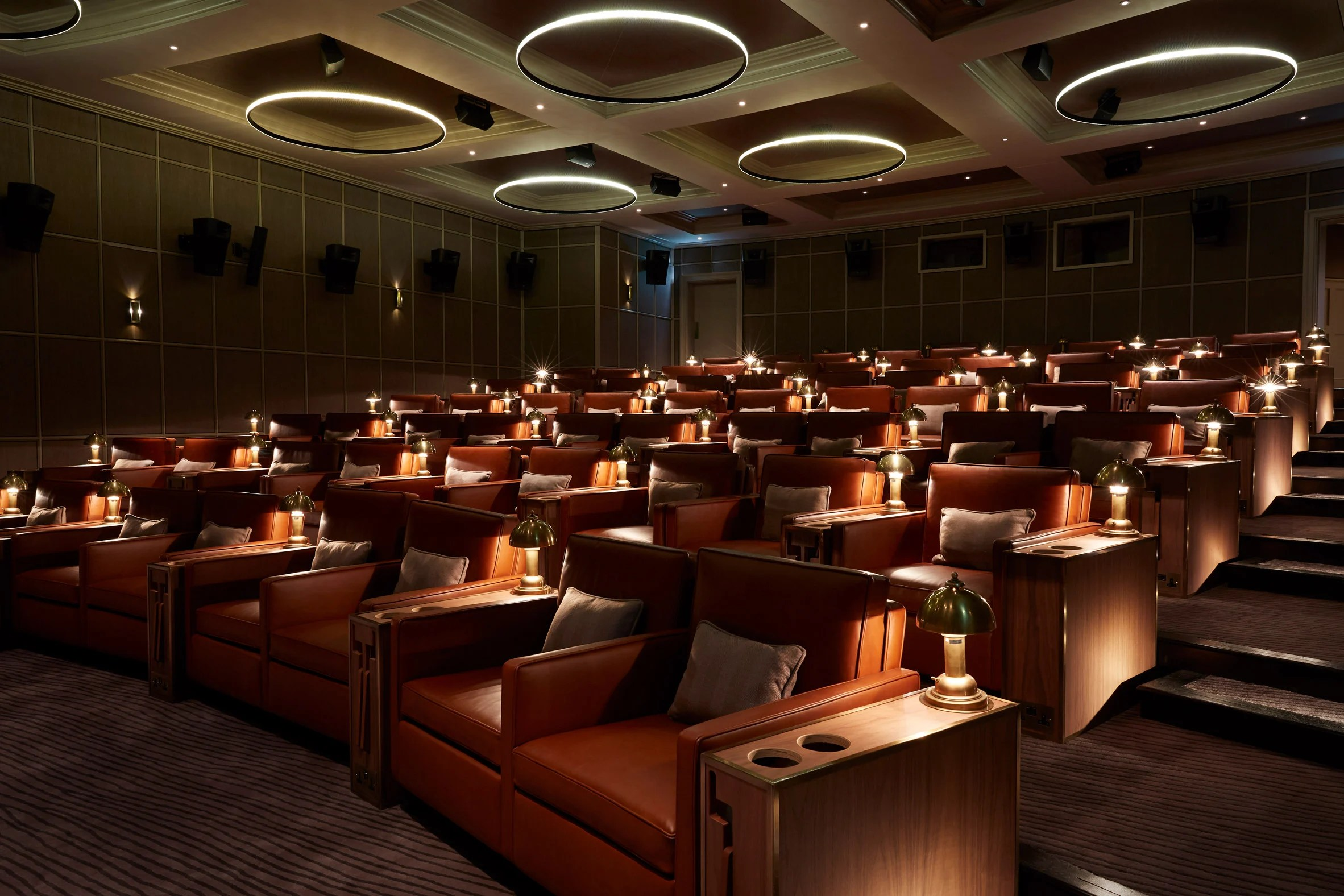 Cinema at Heckfield Place hotel by Ben Thompson