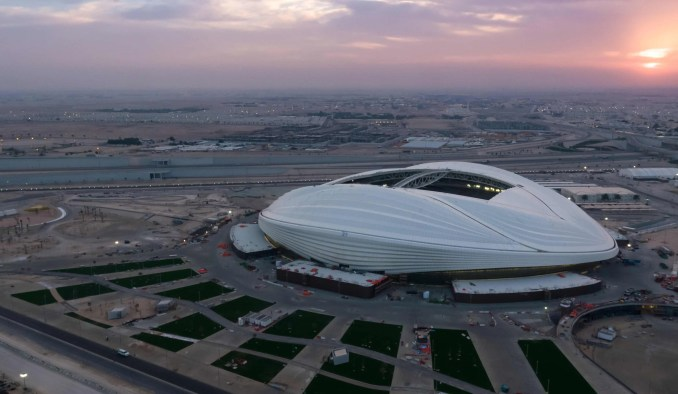 Zaha Hadid Architects' Al Wakrah stadium for the Qatar World Cup 2022 opens