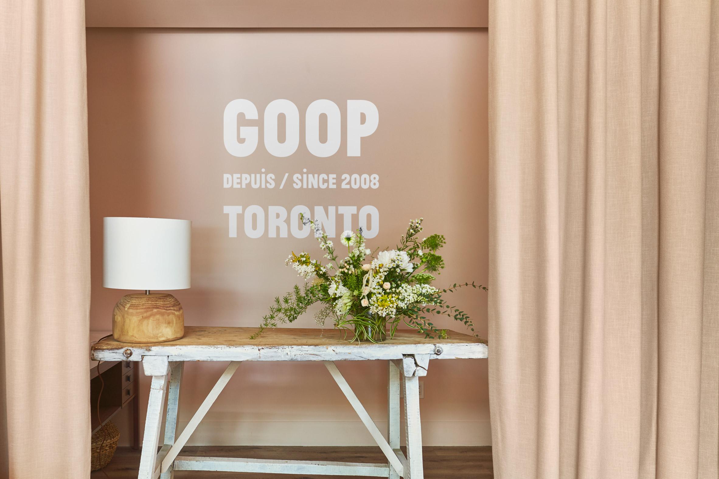 Goop pop-up in Toronto by Yabu Pushelberg