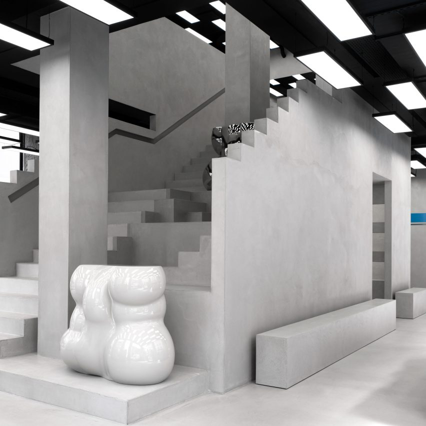 Axel Arigato Copenhagen flagship store, designed in collaboration with Christian Halleröd
