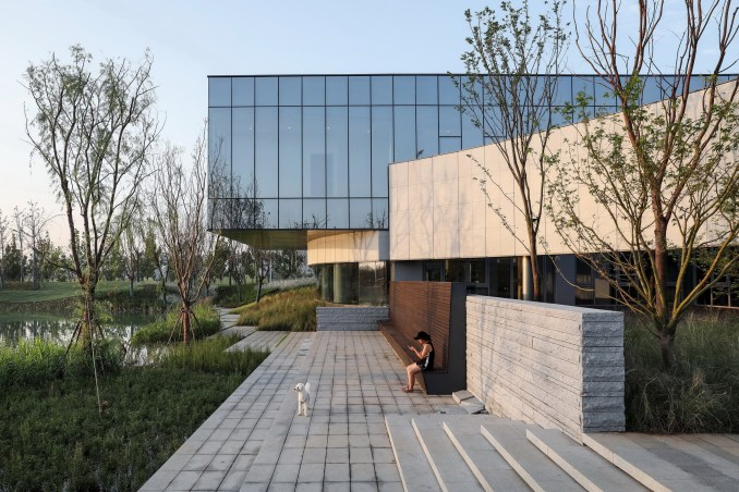 Hefei RIver Central Smart Garden Library by Geedesign