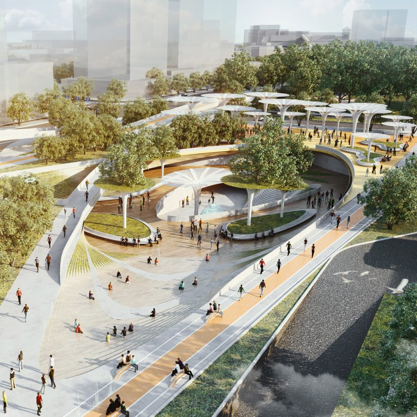 Central Park masterplan for Ho Chi Minch City in Vietnam by LAVA and Aspect Studio