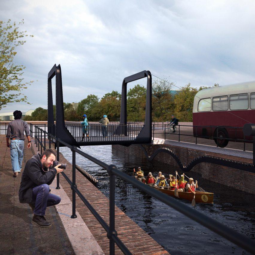 Cody Dock Rolling Bridge by Thomas Randall-Page