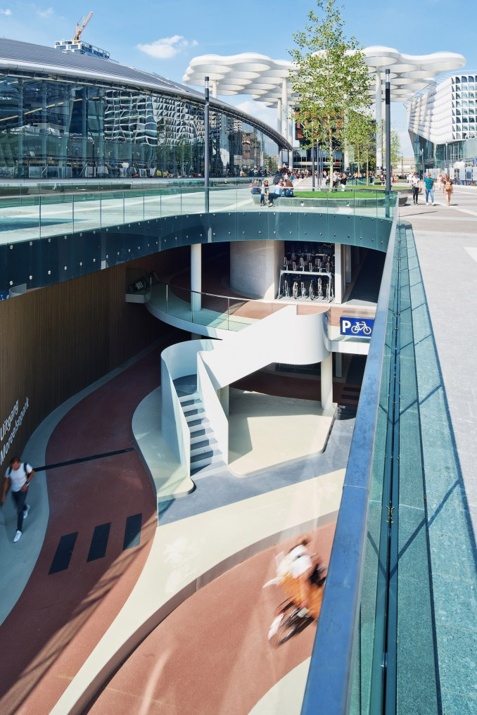 World's biggest bicycle park at Utrecht Centraal by Ector Hoogstad Architecten