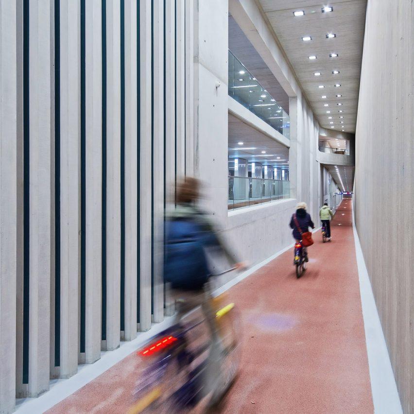 "The ""world's biggest bicycle parking"" at Utrecht Centraal by Ector Hoogstad Architecten"