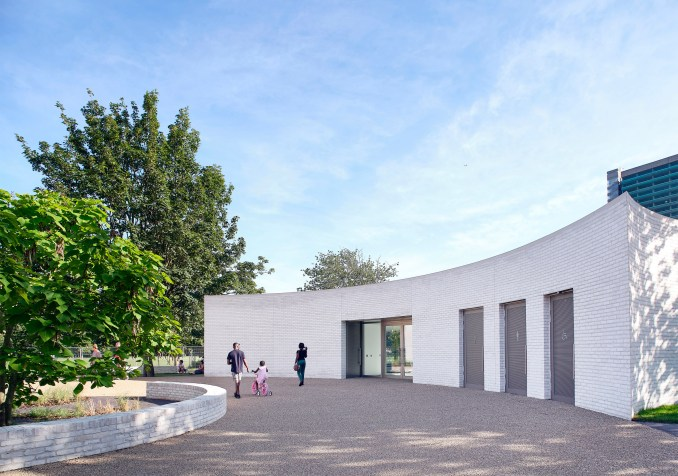 Southwark Park Pavilion by Bell Phillips Architects in London