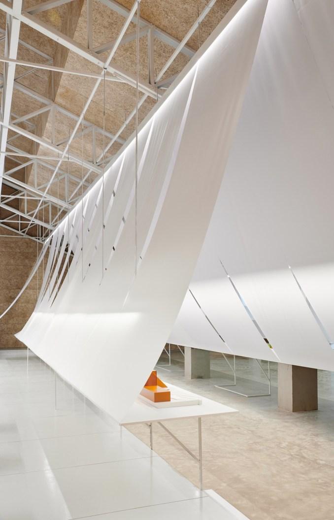 B+P Architects paper exhibition design
