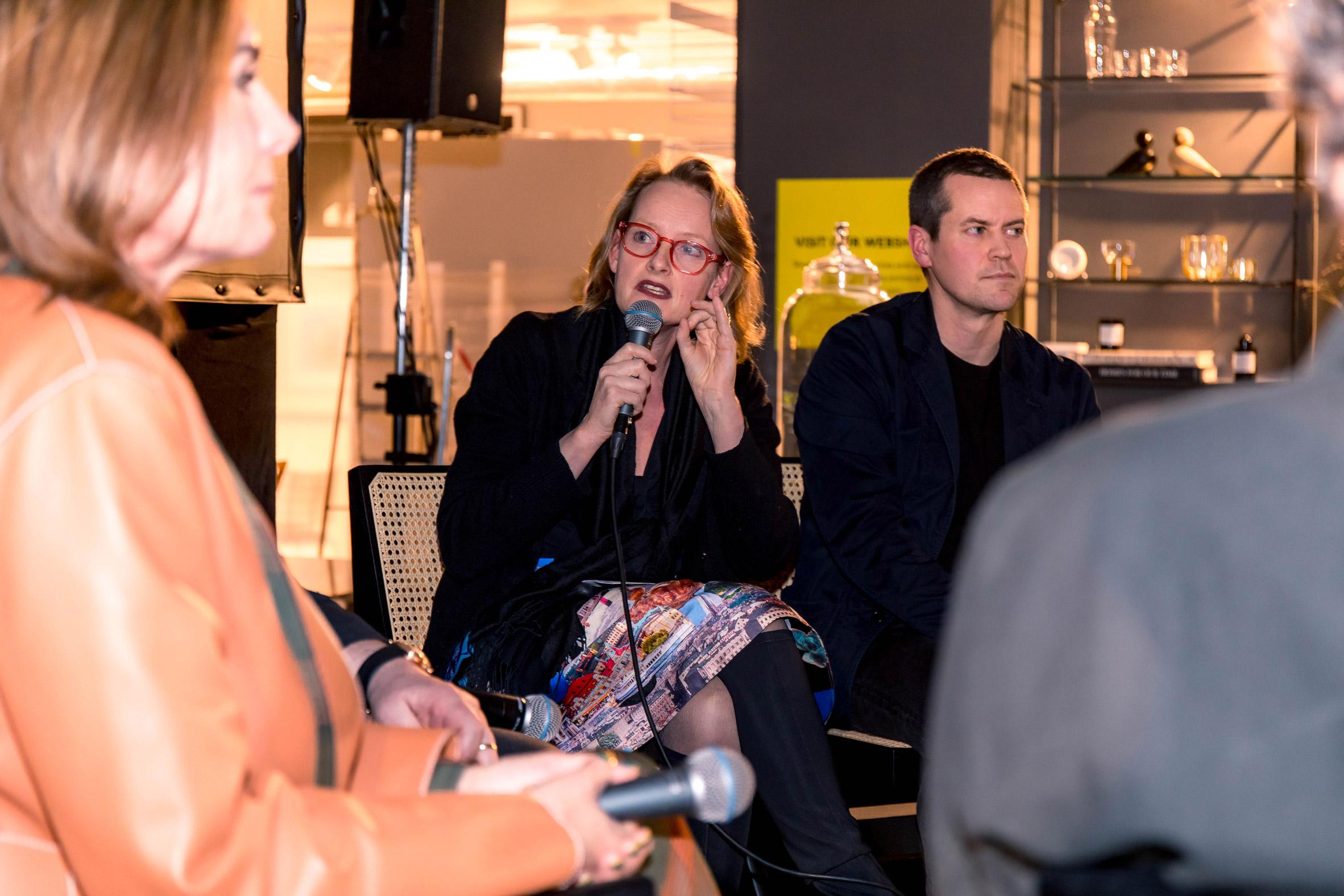 Alexandra Hagen of White Arkitekter on Dezeen's panel at Stockholm Design Week 2020