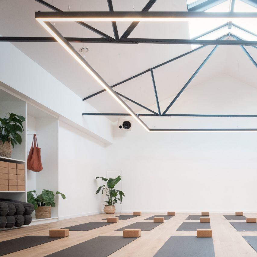 The Space Between yoga studio by Jordan Ralph Design