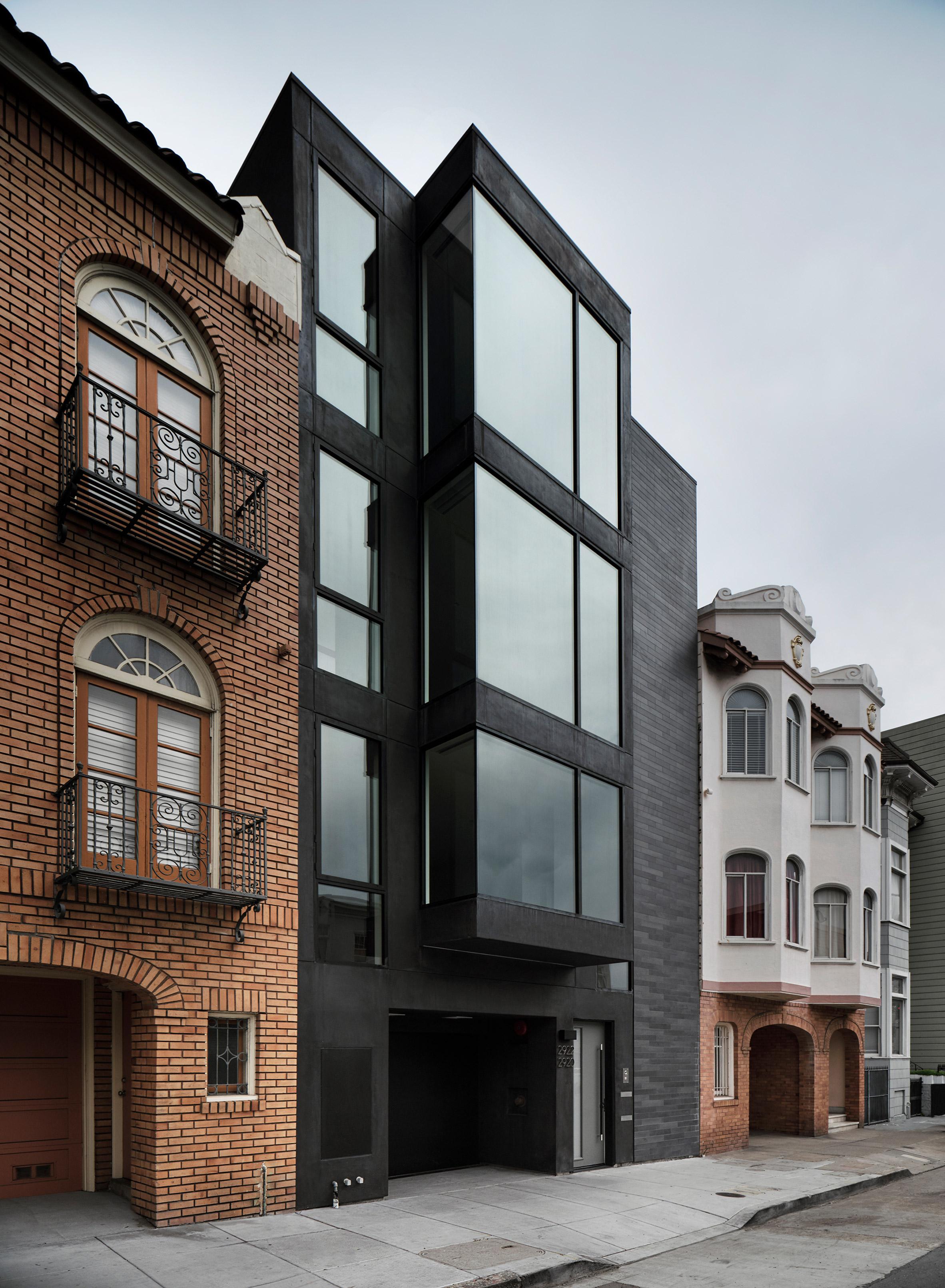 Modern Townhouse Townhouse Designs San Francisco: Michael Hennessey Creates Modern Bay Windows For San Francisco Townhouse