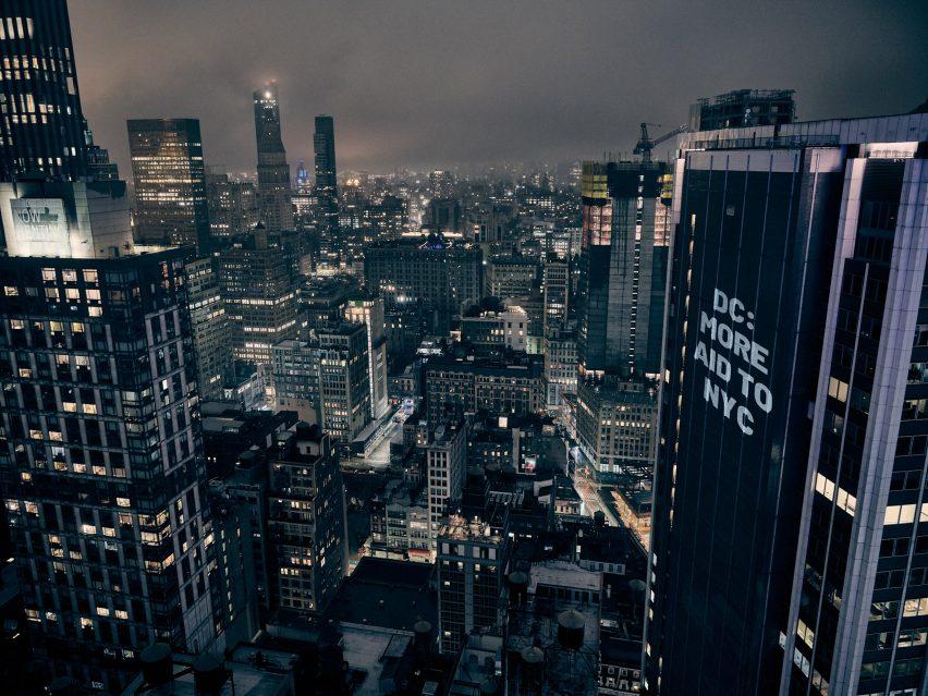 The Illuminator New York protest