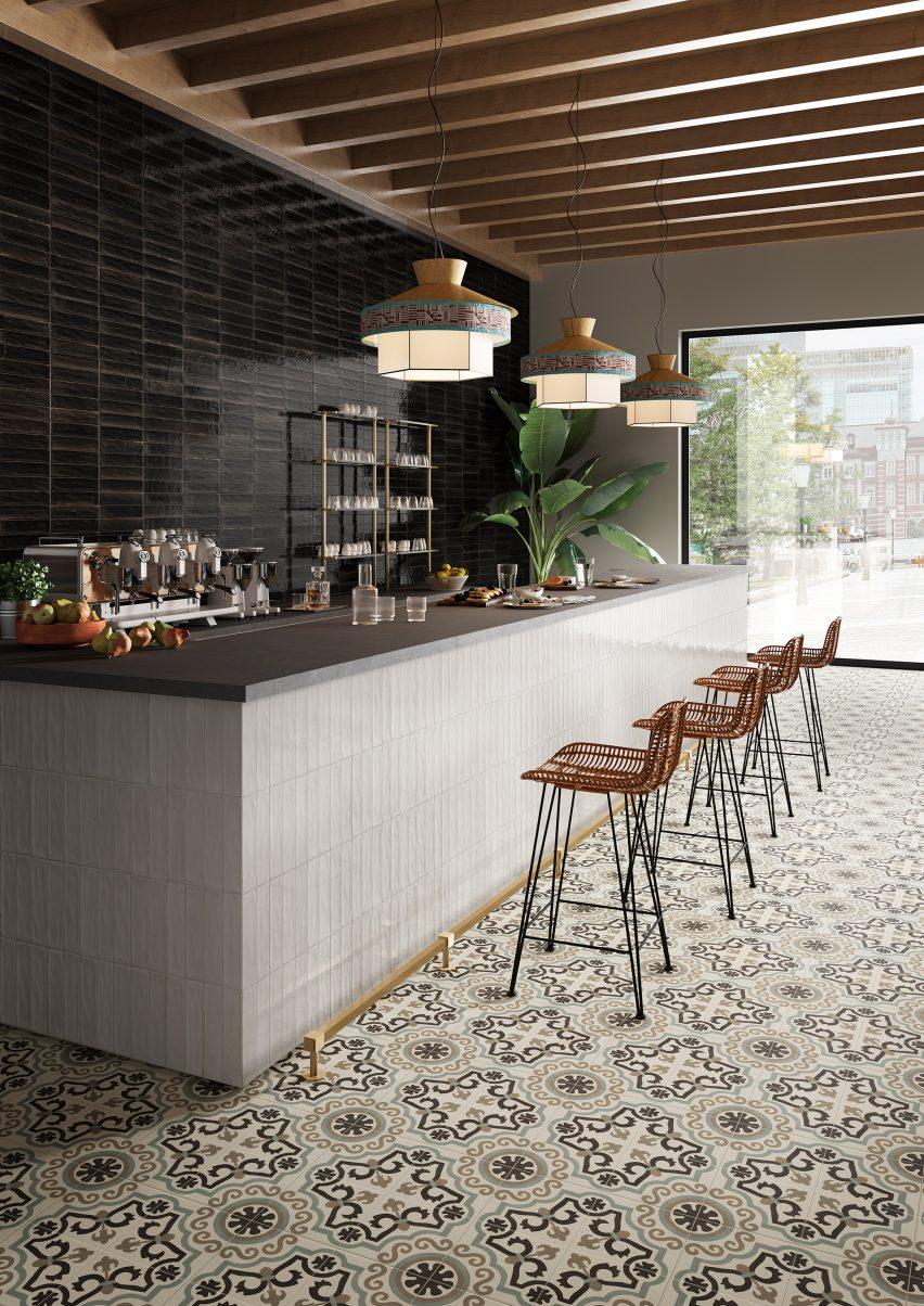marazzi updates its crogiolo tile