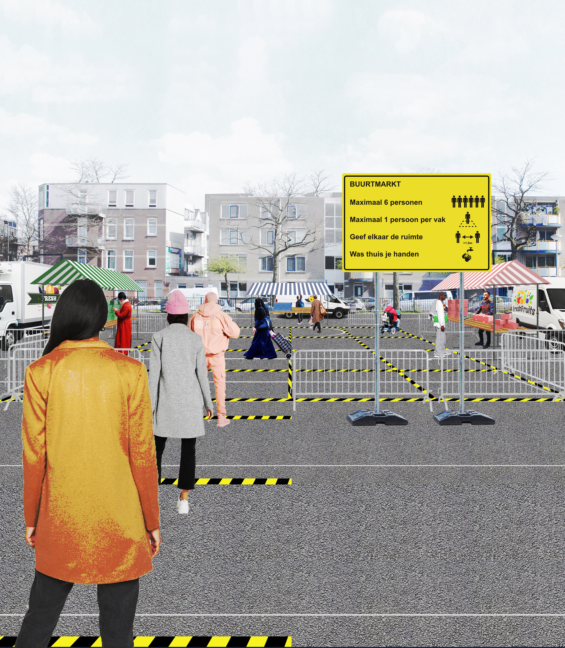 Hyperlocal Micro Markets by Shift Architecture Urbanism allow social distancing