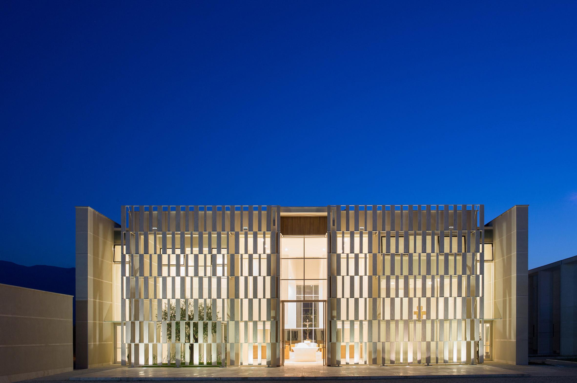 Church and community centre in Castel di Lama by Studio Contini