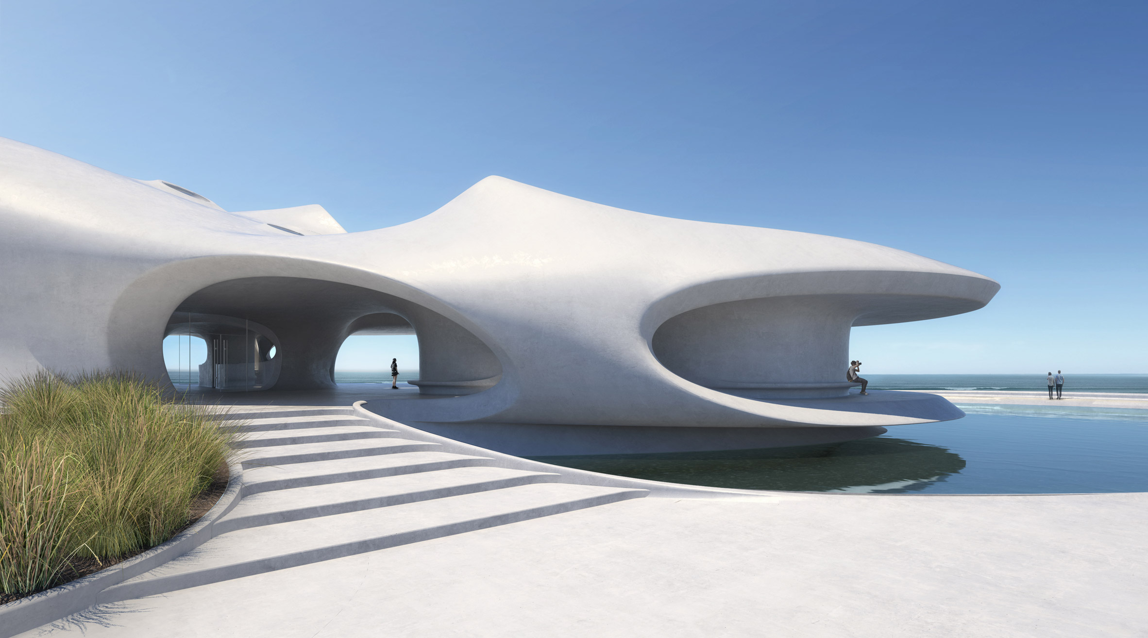 Wormhole Library overlooking the South China Sea inHaikou by MADarchitects