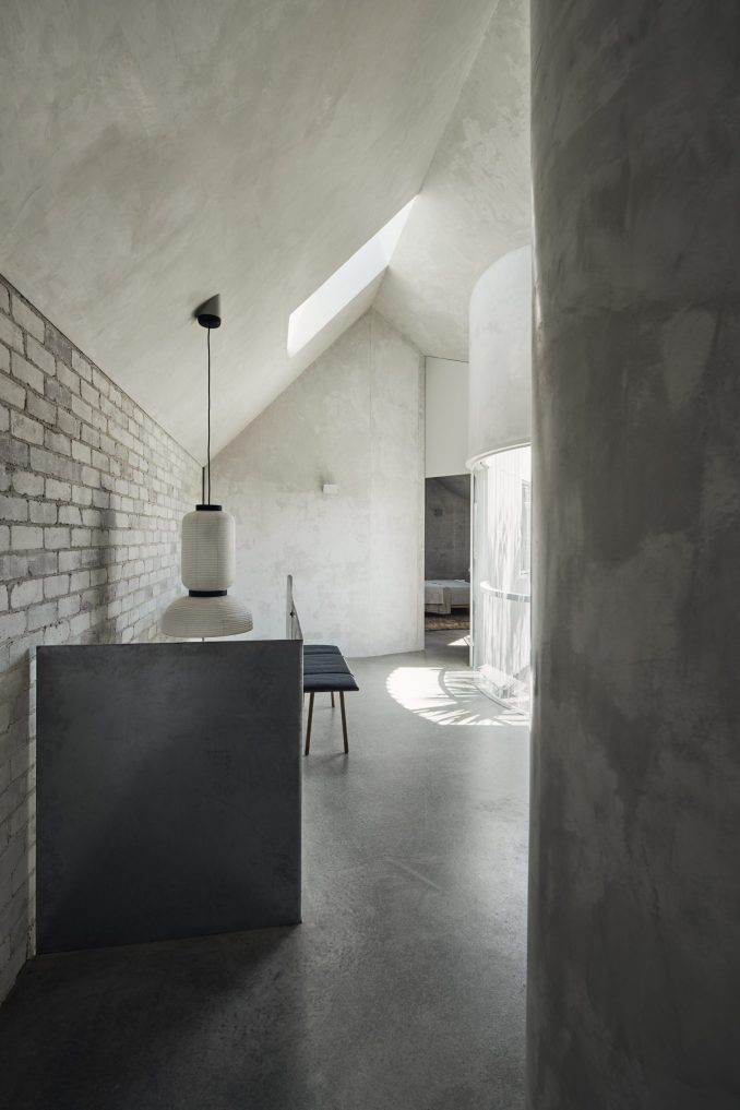 Concrete floors at holiday home in Bondi