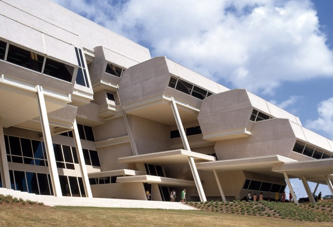 Exterior of Burroughs Wellcome by Paul Rudolph