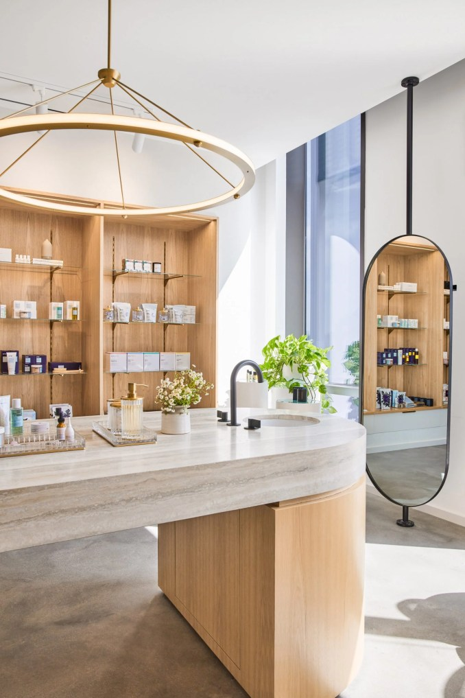 Goop headquarters by Rapt Studio includes a product showroom