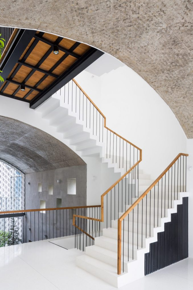 Staircase of Vom House in Vietnam by Sanuki Daisuke Architects