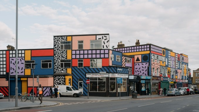 Camille Walala revives east London high street with community-funded artwork