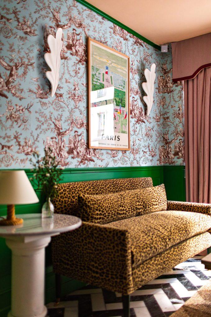 Interiors of Hotel Les Deux Gares in Paris