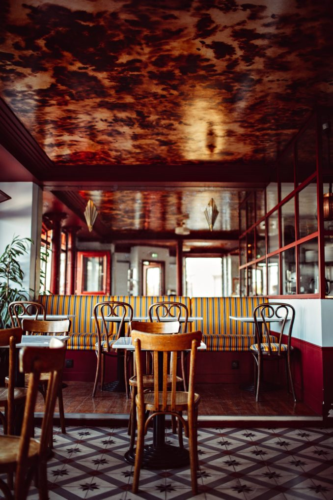 Cafe of Hotel Les Deux Gares in Paris