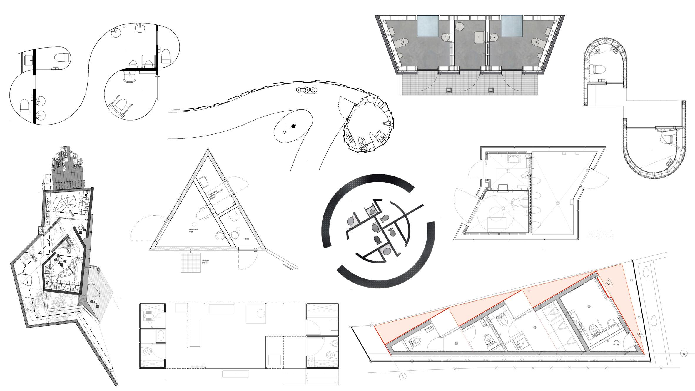 Ten Public Toilets Floor Plans That Are Unexpected