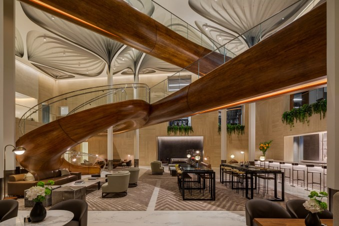 The Waterline Club is a private leisure club for residents of New York's Waterline Square
