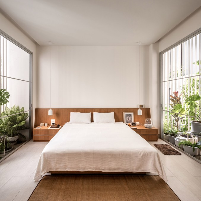 Bedroom in Forest House, Thailand, by Shma Company