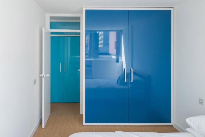 Blue closet in Golden Lane flat by Archmongers