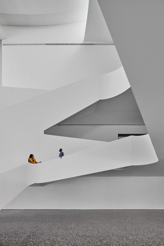 Atrium in Nancy and Rich Kinder Building by Steven Holl Architects